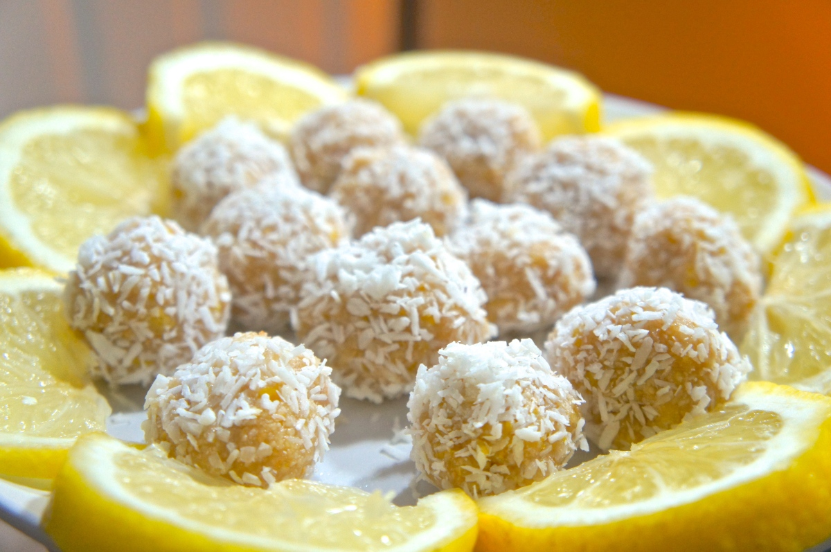 Lemon Coconut Bliss Balls
