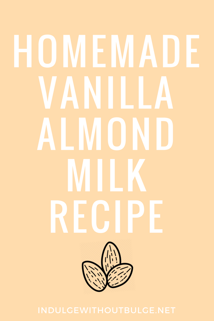 homemade vanilla almond milk recipe