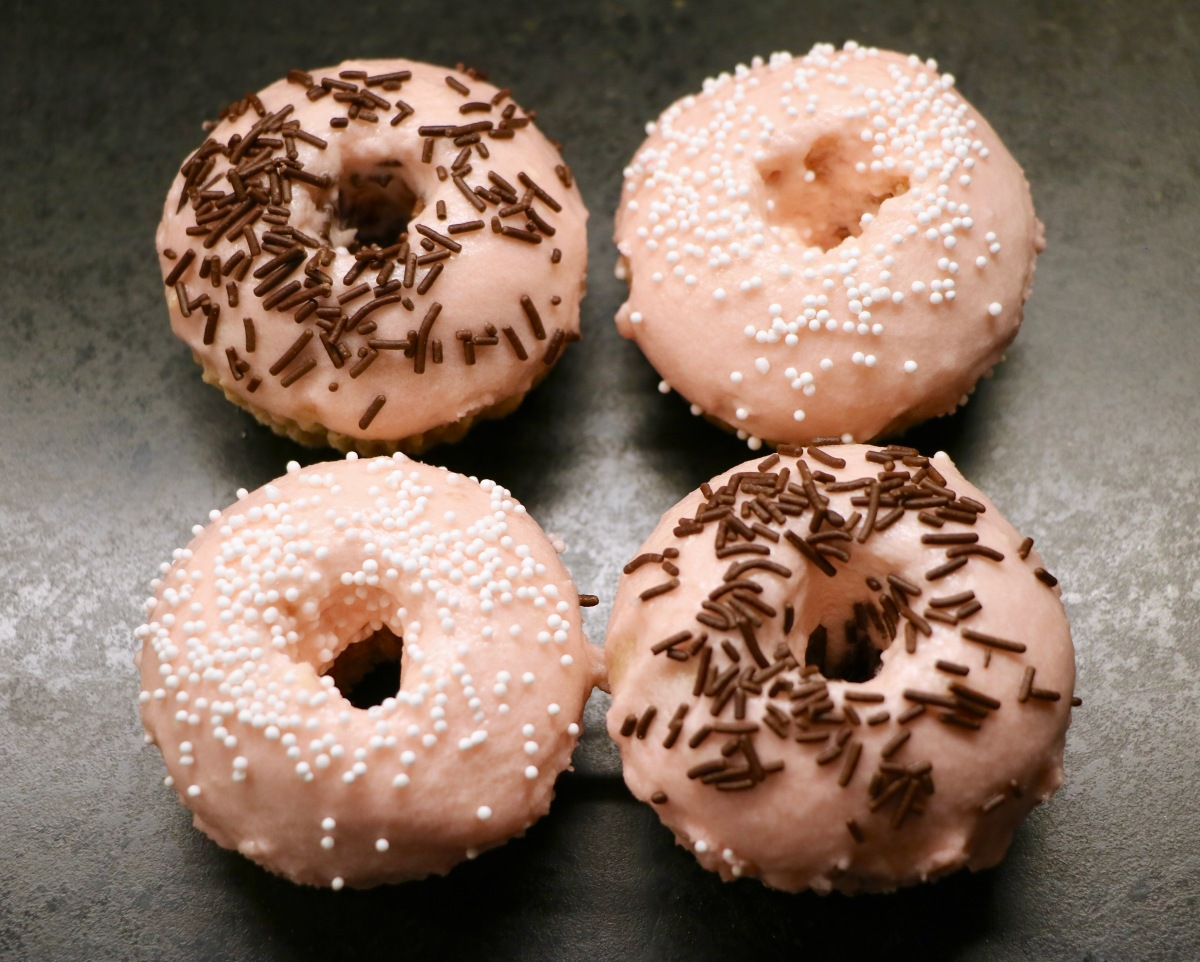 The Perfect Pink Vegan Donuts