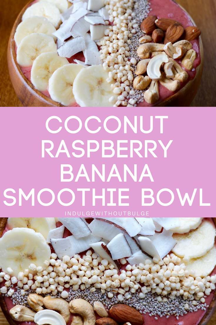 Coconut Raspberry Banana Smoothie Bowl