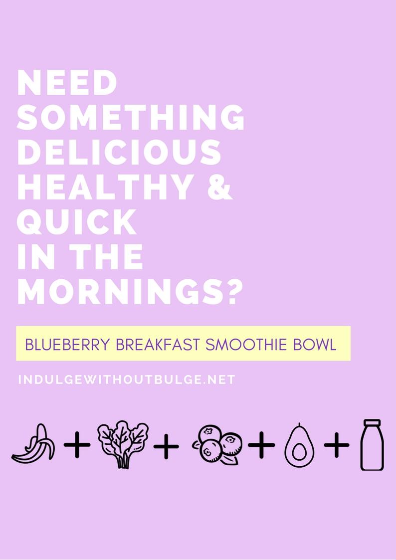 Blueberry Breaky Smoothie Bowl